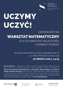 UG, warsztaty matematyczne, plakat-bardzo-maly